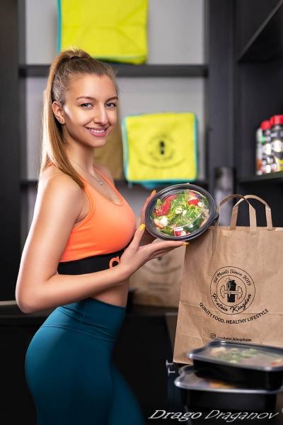 Модна фотография фитнес храни
