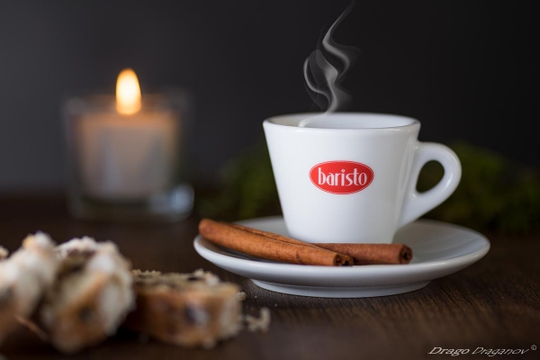рекламна фотография кафе баристо